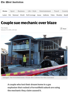 Report from the West Australian newspaper
