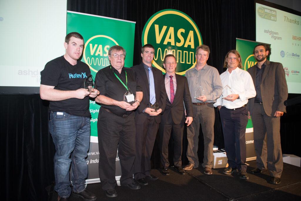 From left: Dave Robson, Dave Harwood, Clint Parket, Ian Stangroome (VASA President), Darrel Hursey, Dwayne Ottoway and Haitham Razagui (VASA Executive Director Communications)