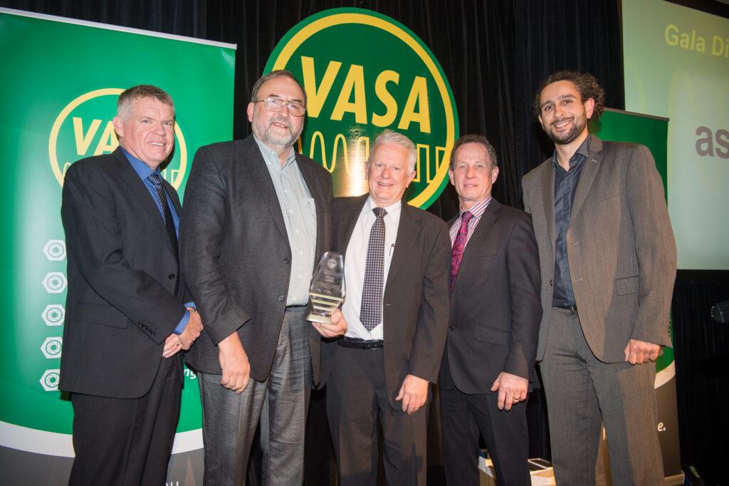 From left: Brett Meads (VASA VP), Deyan Barrie, Mark Mitchell (VASA Director), Ian Stangroome, Haitham Razagui