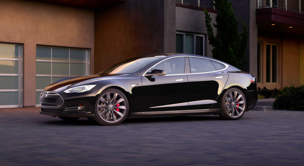 Battery powered Tesla Model S