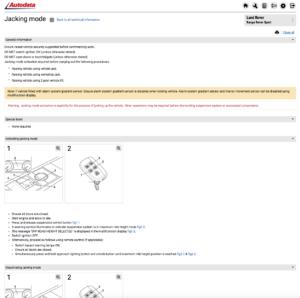 Autodata jacking mode module