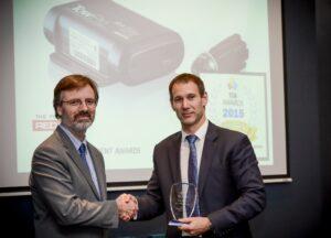 Chris Johnson accepts the Innovation Award
