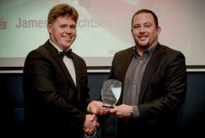 James Albrechtsen receives the Young Achiever Award