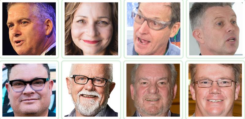 Anthony Kittel, Rachael Sheldrick, Grant Hand, Peter Trees Eden Shirley, Mark Mitchell, Michael Bennett, Darrel Hursey
