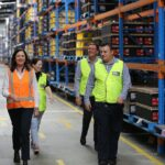 Queensland Premier Annastacia Palaszczuk tours the Century Batteries facility in Carole Park