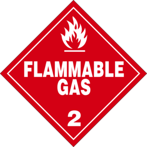 flammable gas placard