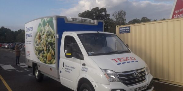 Fleet of electric grocery delivery vans for Tesco