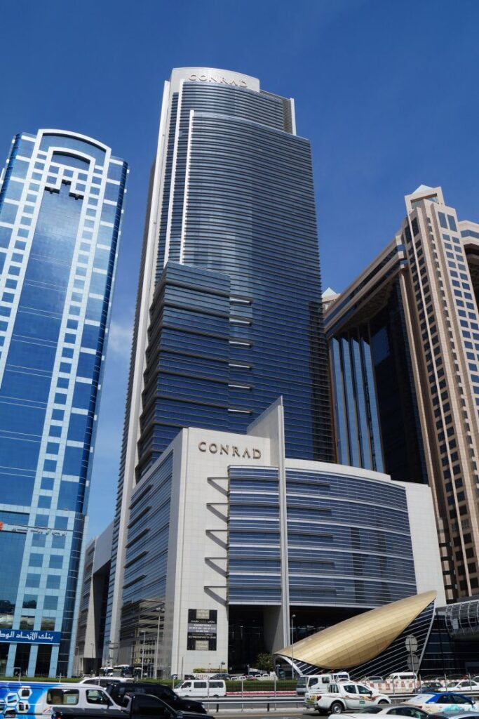 Conrad Hotel in Dubai, the venue for OWEG meeting