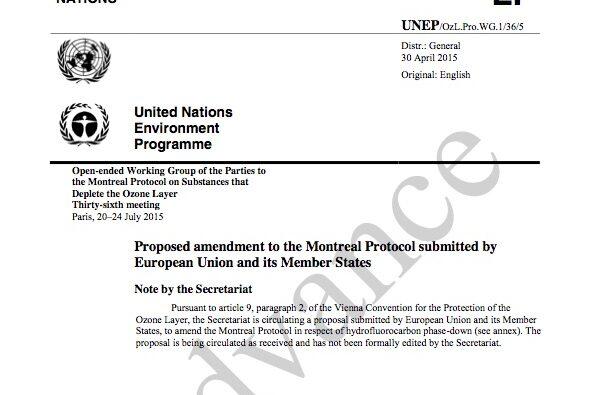 EU submission to Montreal Protocol amendment
