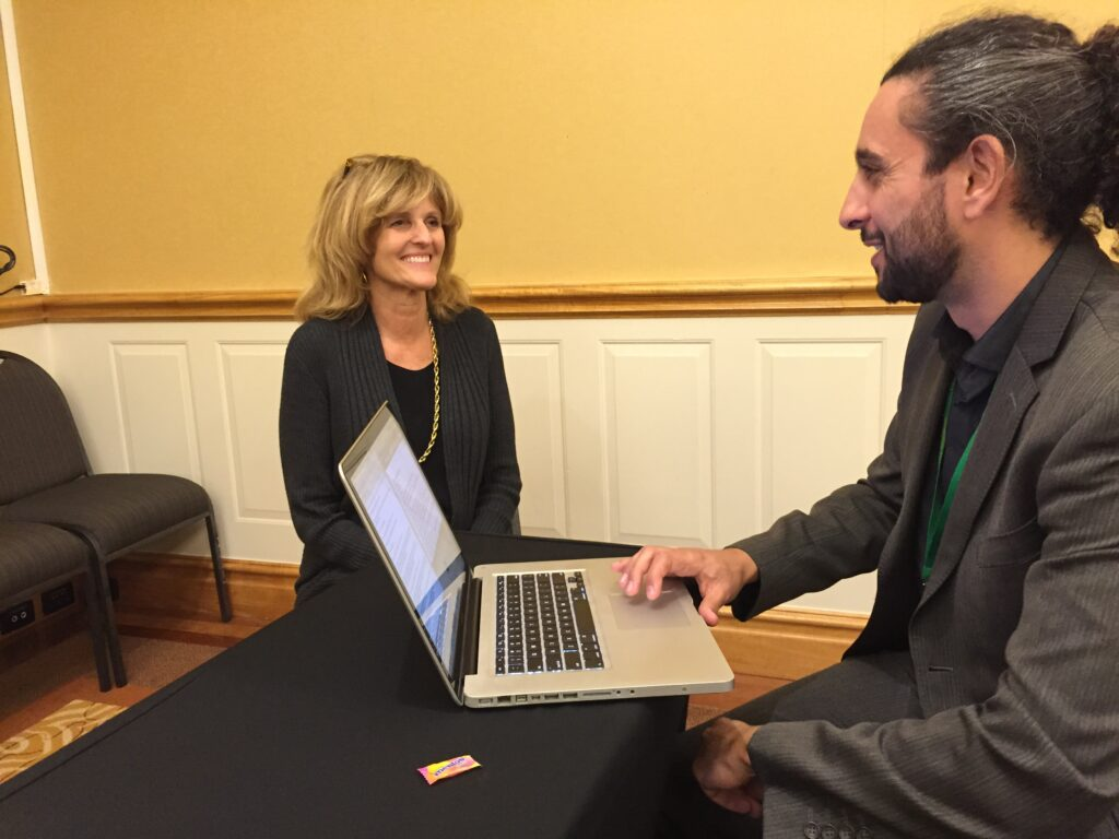 SightGlass News Editor Haitham Razagui interviewing Dr Barbara H Minor
