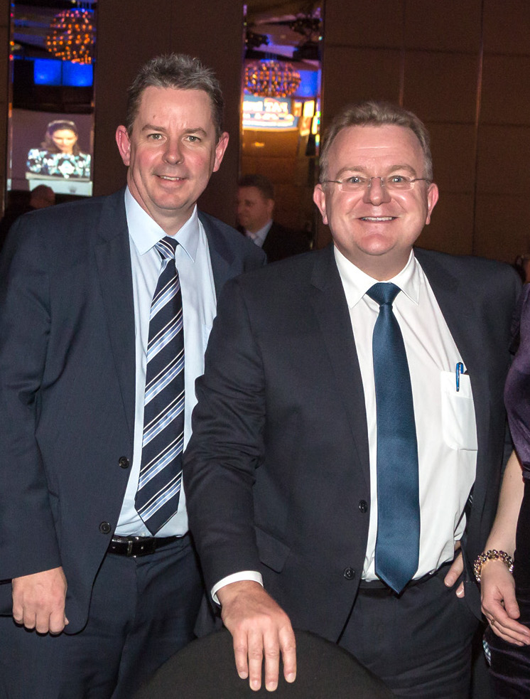 Stuart Charity with Small Business Minister Bruce Billson