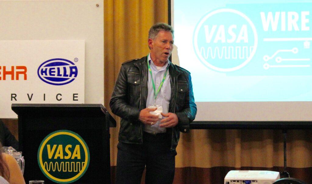 Neil Hunichen speaking at Wire & Gas 2015