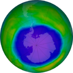 NASA image of the Antarctic ozone hole in October 2015