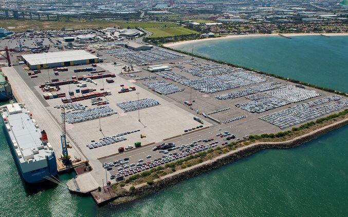 Webb dock in Port Melbourne