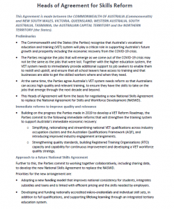 Call for feedback on how to improve vocational education and training in Australia