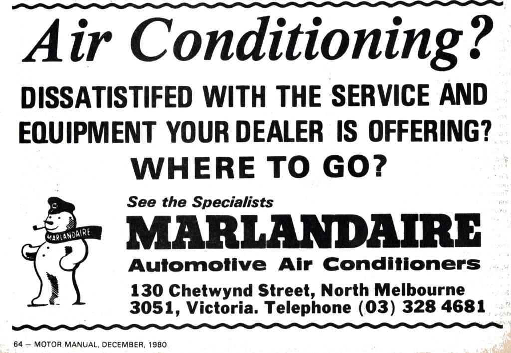 Marlandaire advert