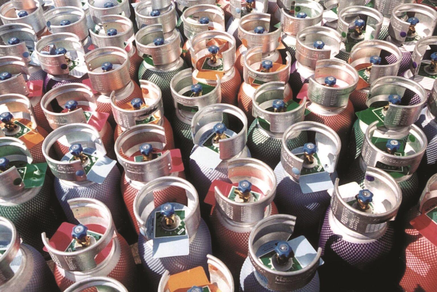 Refrigerant cylinders F-gas