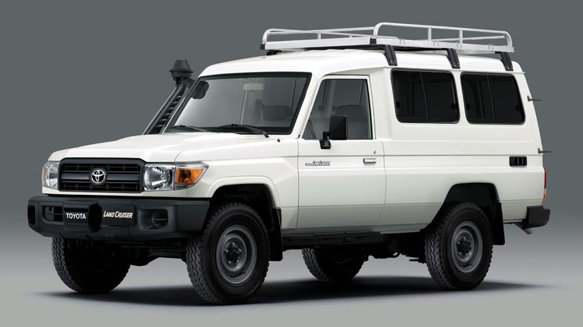 Toyota LandCruiser 78 'Troopy' modified for the refrigerated transport of vaccines