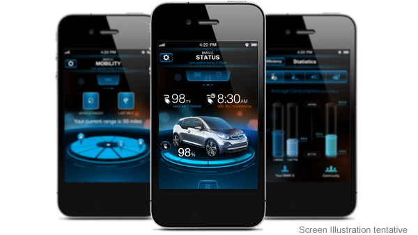 BMW remote car control app