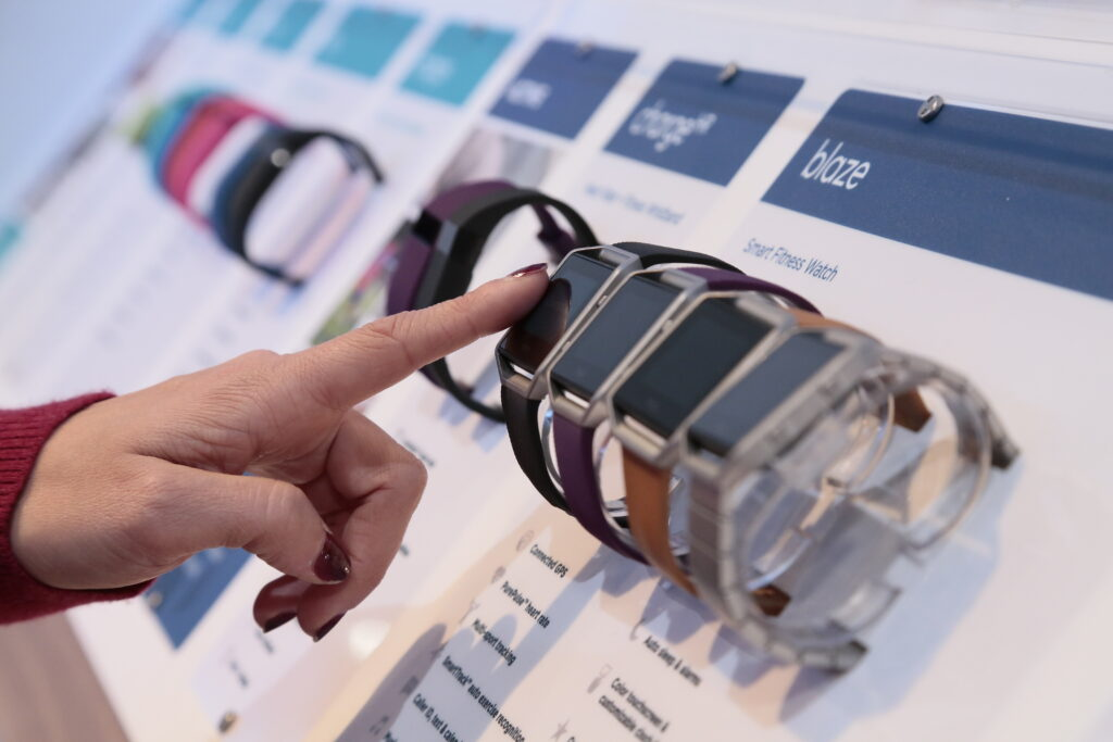 Smartwatch display at CES 2016