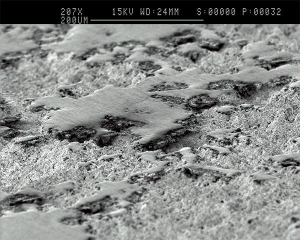 Microsocpe view of Vulcan Grip coating