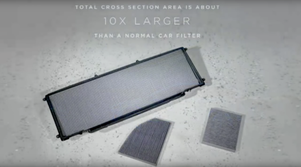 Tesla cabin filter size comparison
