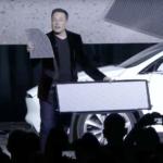Elon Musk with Tesla cabin filter