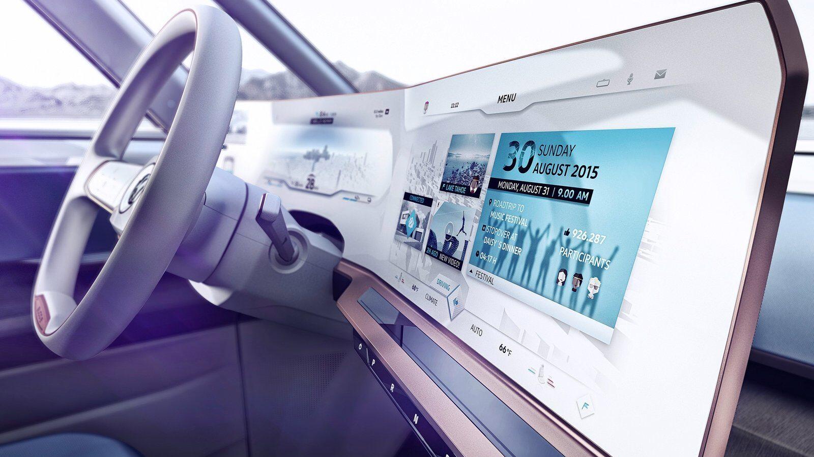 Volkswagen Budd-E concept dashboard