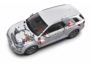 Audi Q7 e-tron cutaway