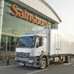 Sainsbury's refrigerated delivery truck using Dearman technology