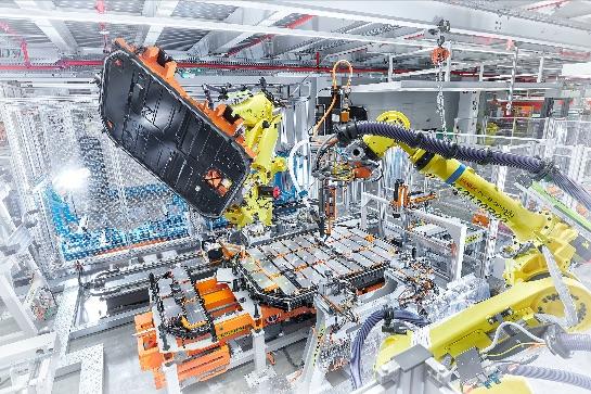EV battery pack production