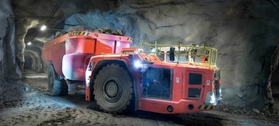 Sandvik TH663 dump truck